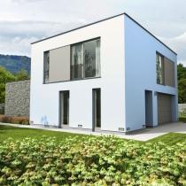 Ein solches Flachdach - Haus bauen wir auch in Ellwangen.